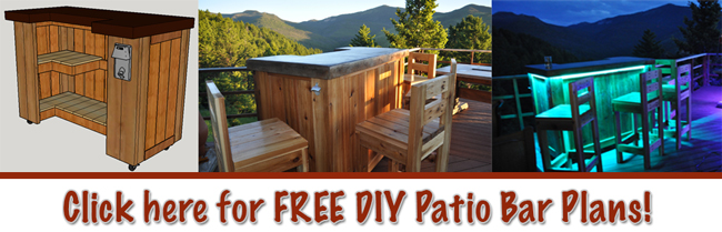 Download the Free Patio Bar Plans. Click here or on the image below. - - Patio Bar Plans Our Designs