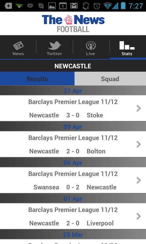 Portsmouth News Football app - screenshot