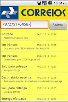 Screenshot of Correios Rastreamento