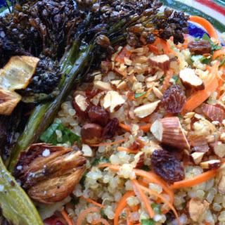 Herbed Quinoa Salad with Charred Broccoli Rabe.