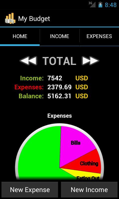 My Budget- screenshot