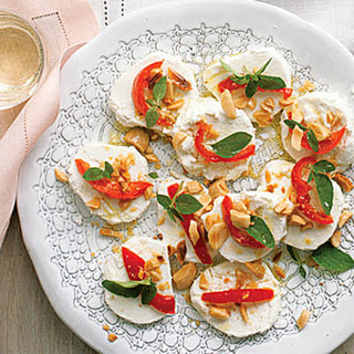 Goat Cheese with Peppers and Almonds