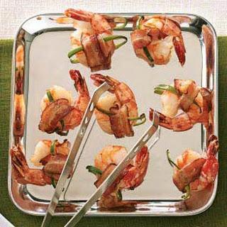 Bacon-Wrapped Shrimp.