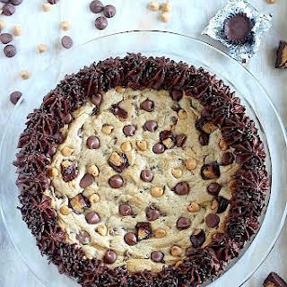 Ultimate Peanut Butter Chocolate Cookie Cake.