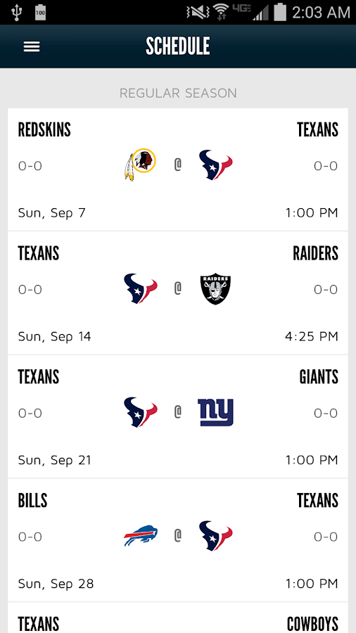 Houston Texans Mobile App - screenshot