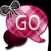 GO SMS THEME/GirlyPlaidCPK