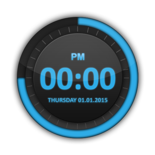 Dashing Blue HD Digital Clock Android APK Download Free By Jike Inc.