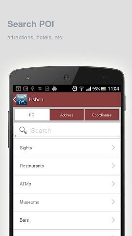 Screenshot 2 Karte von Lissabon offline