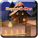 3D Happy X-Mas logo