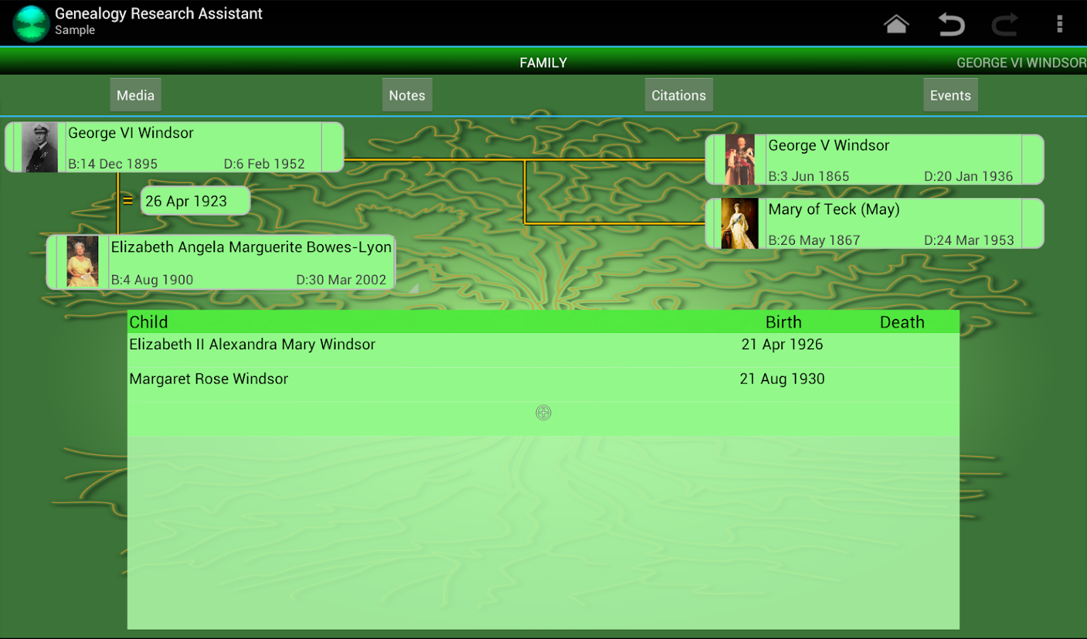 Genealogy Research Assistant - screenshot