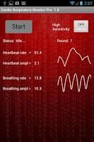 Screenshot of Cardio Respiratory Monitor Pro