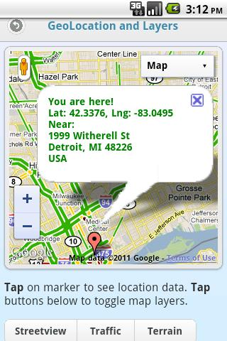 GMap Demo by AppLaud- screenshot