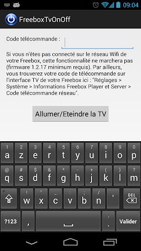 Freebox TV On Off