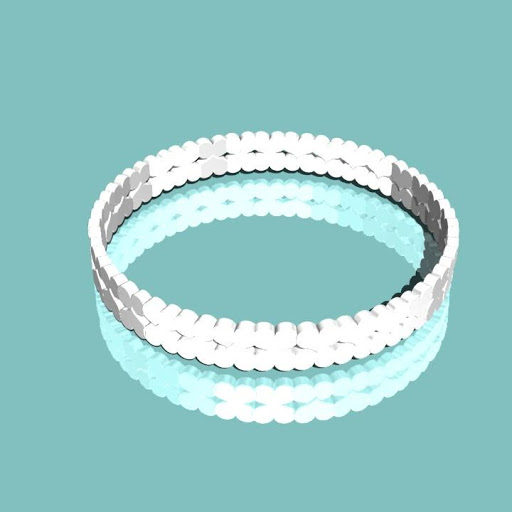 m-baby dual heart ring  指輪 7号
