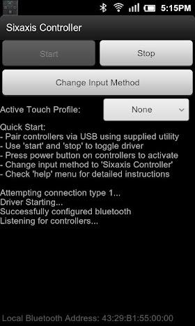 Sixaxis Controller 0.8.1 APK