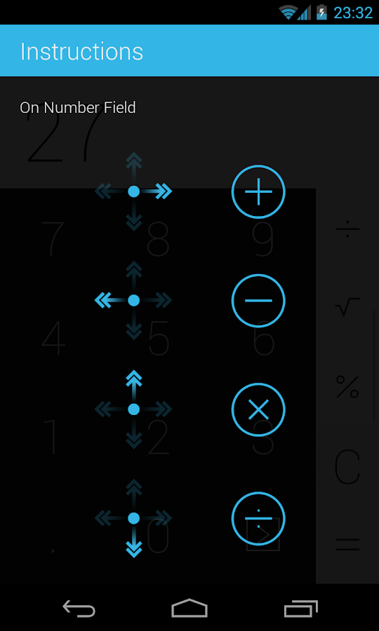 Swipe Calculator FREE - screenshot