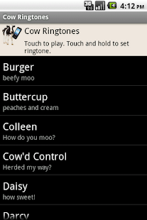 Cow Ringtones - screenshot thumbnail