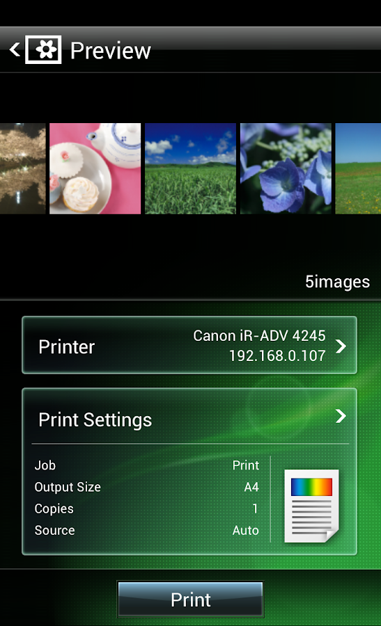 Canon Mobile Printing - screenshot