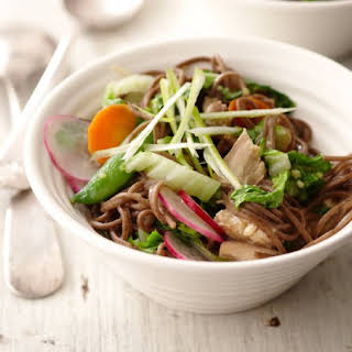 Soba Noodle Salad With Spring Vegetables.