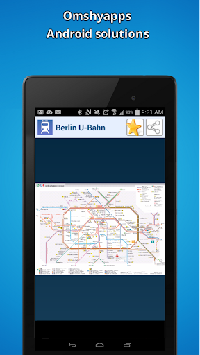 Berlin subway map U-Bahn
