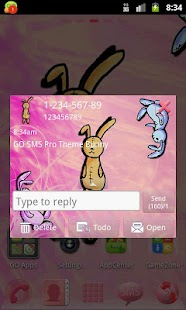 Theme Bunny for GO SMS Pro- screenshot thumbnail