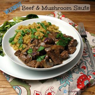 Beef and Mushroom Saute