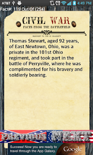 250+ Civil War Facts - screenshot thumbnail