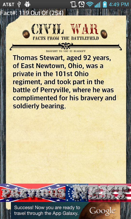 250+ Civil War Facts - screenshot