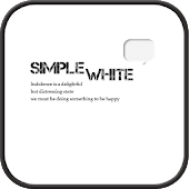 SIMPLE WHITE go launcher theme