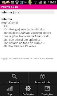 Dicionário Priberam- screenshot thumbnail
