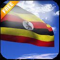3D Uganda Flag icon