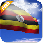 3D Uganda Flag Live Wallpaper icon