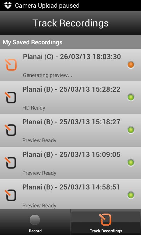 SpotOn video tracker @ Planai - screenshot