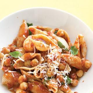 Pasta with Chickpea-Tomato Sauce.