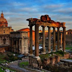 Forum by Vinod Chauhan - Buildings & Architecture Public & Historical ( buildins, forum, ancient, rome, ruins, architecture, italy, abandoned )