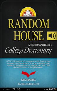 Random House K.W. College Dict