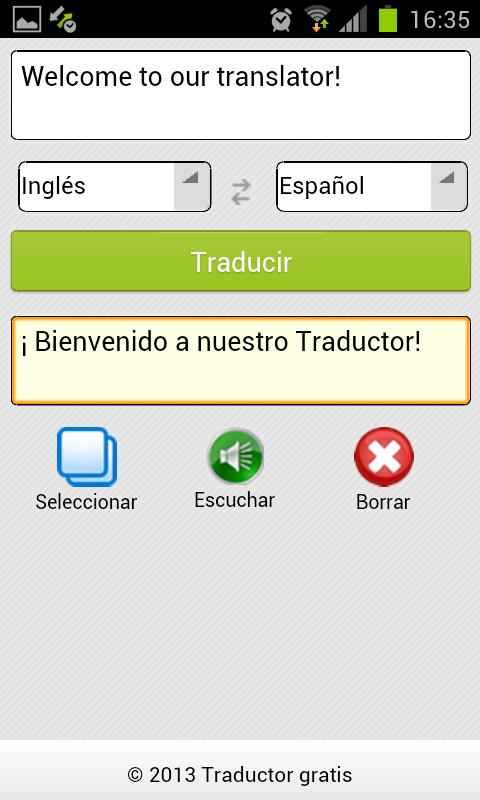 Traductor - screenshot
