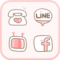 LOVE(Pink) icon theme icon