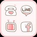 LOVE(Pink) icon theme icon