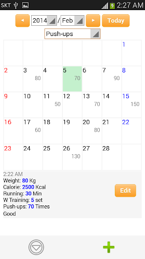 Fitness Diary - Health Log
