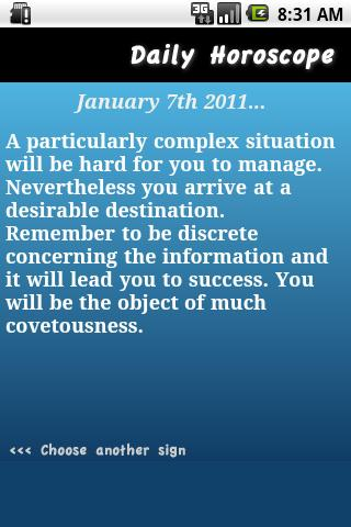 Daily Horoscope - Pisces - screenshot