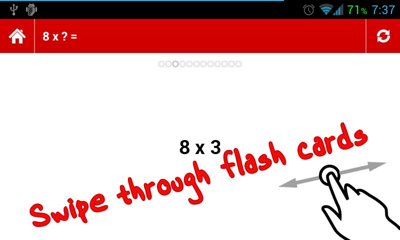 Times Tables Flashcards - screenshot