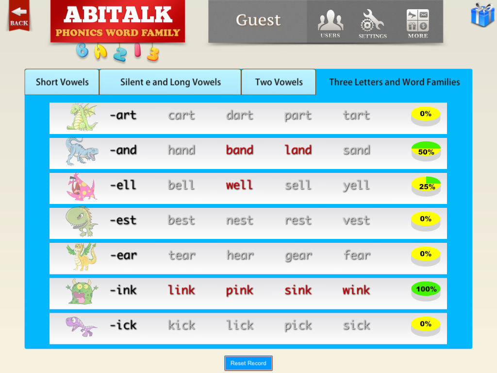 ABC Phonics Word Family Plus F- screenshot