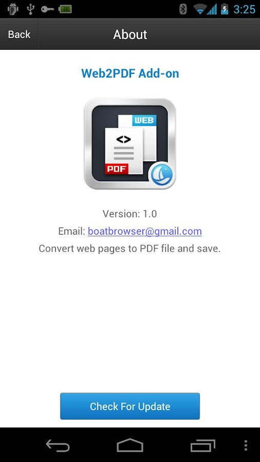 Boat Web2PDF Add-on - screenshot
