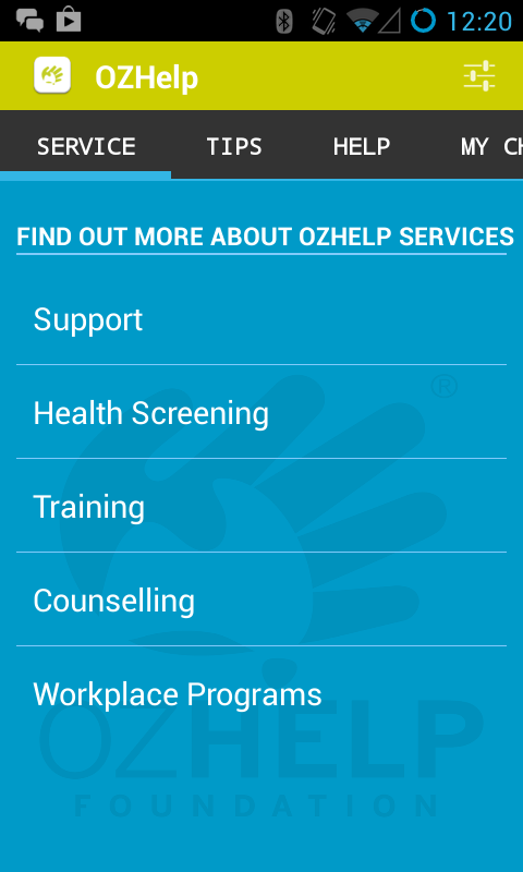 OzHelp- screenshot