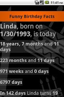 Screenshot of Funny Birthday Facts