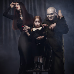 The Addams Family by Liviu Mihai - People Family ( fester morticia addams family movie makeup man studio hand )