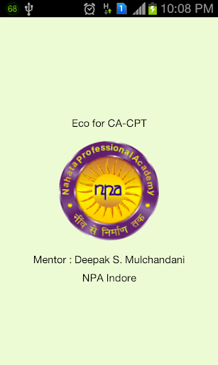 Eco for CA-CPT