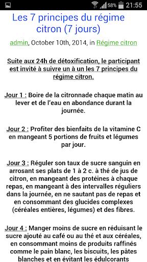 【免費健康App】Régime citron-APP點子