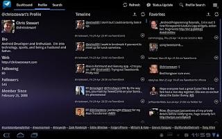 Screenshot of TweetComb